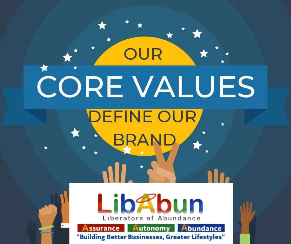 Core Values Define Our Brand