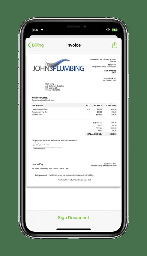 iPhone-11-Pro-PDF-invoice-