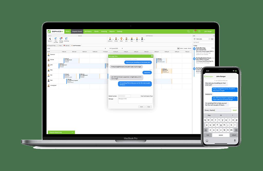 MacBook-Pro-iPhone-11-staff-messaging