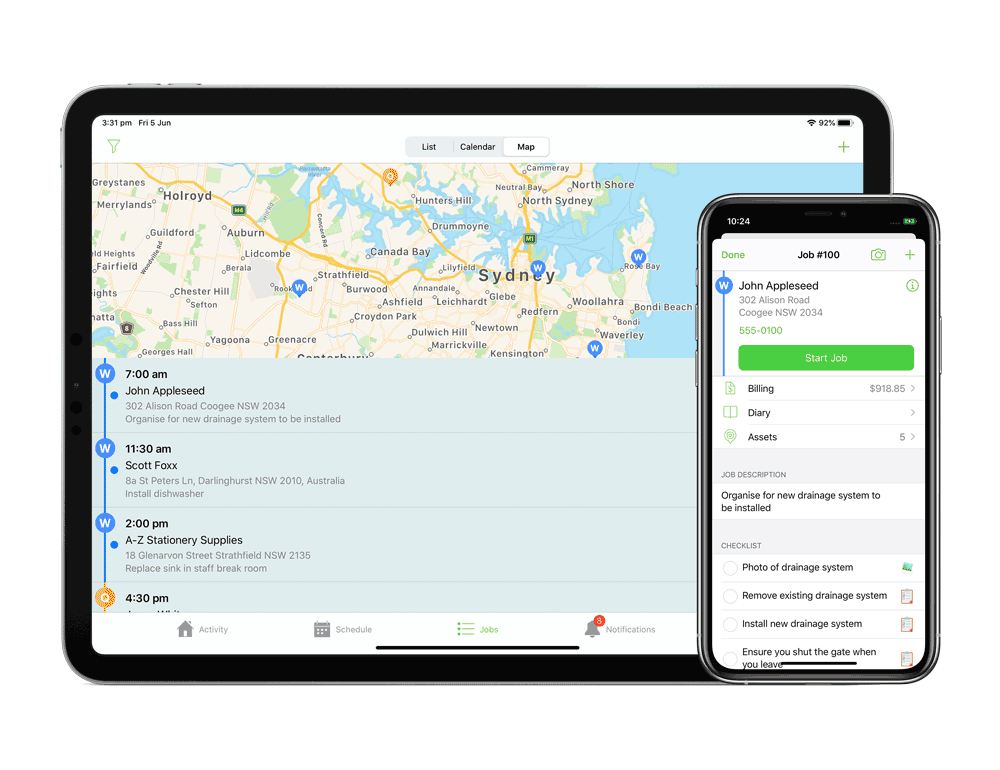 11-inch-iPad-Pro-and-iPhone-11-Pro-Map-and-job-card.png