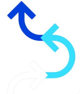curved arrows up